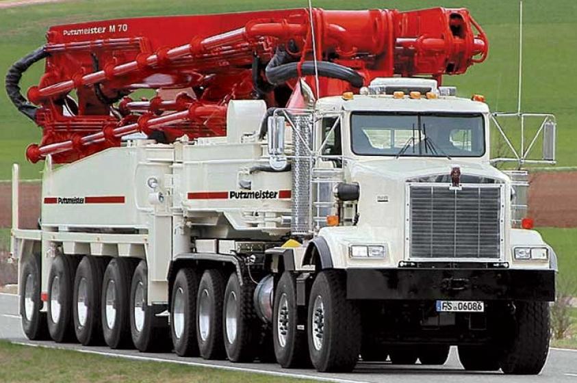 Оборудование для транспортирования бетонных смесей фонтан из цементного раствора
