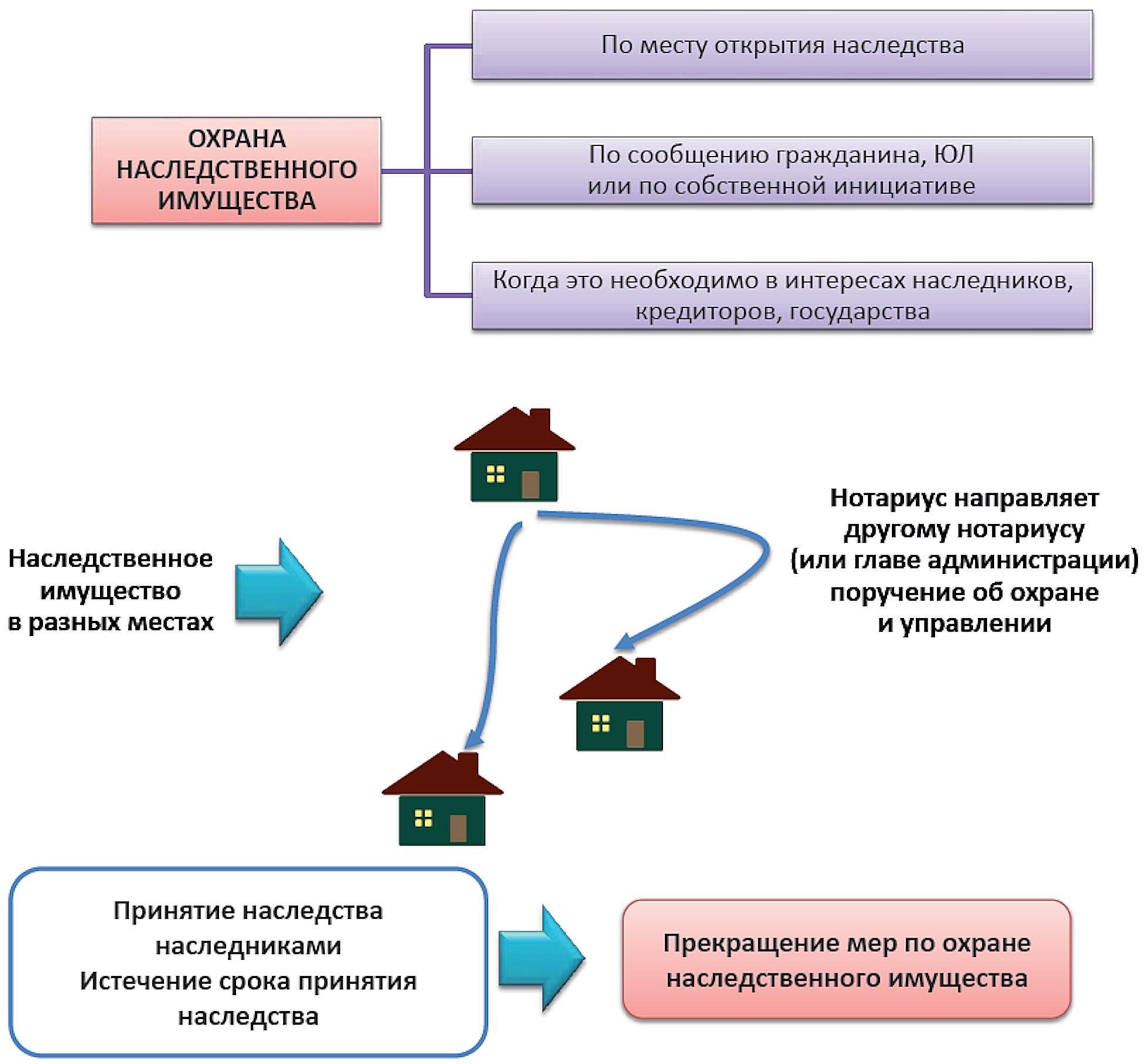 порядок охраны и управления наследственным имуществом