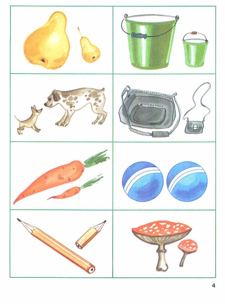 Картинки предметов по два