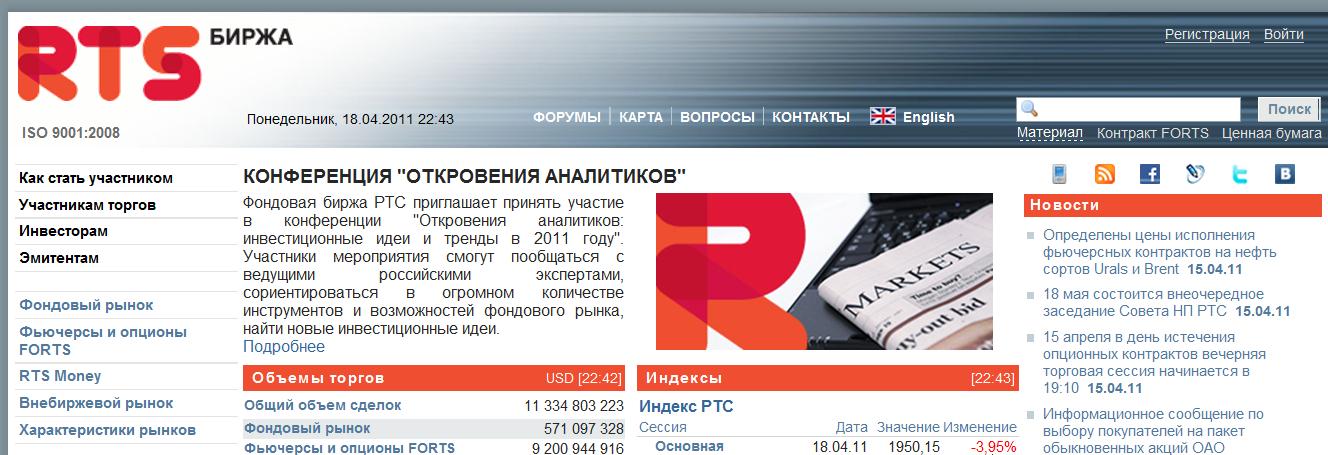 все московские сайты по фондовым рынкам очень часто автомобилях