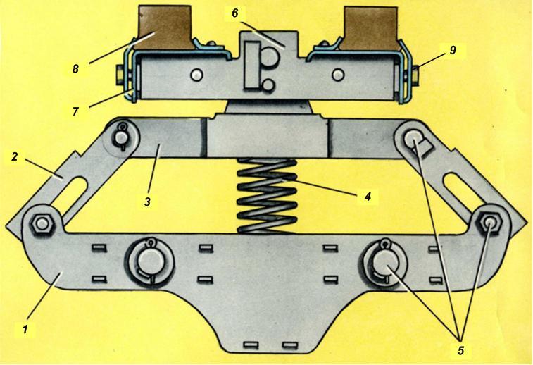 назначение устройства и правилы работы токоприемника л-13у виду напоминает