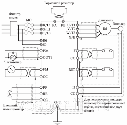 Порядок подключения устройства Тайфун-20М к силовым цепям и цепям управления