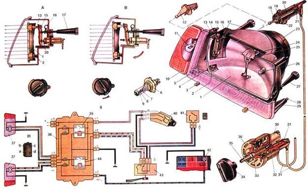 Схема подключения габаритов ваз 2109