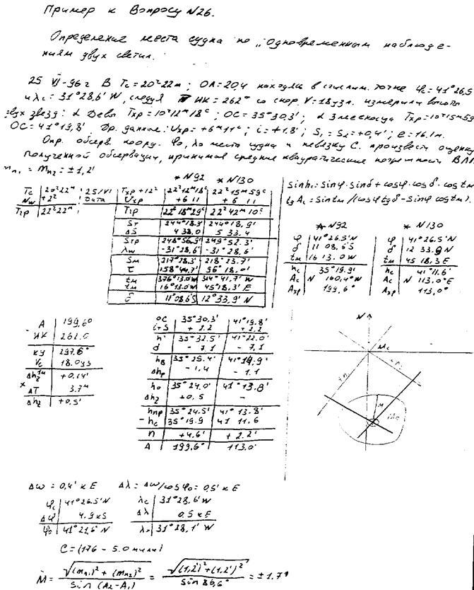Решение задач на определение места судна задачи решения интегралов