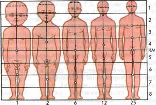 возраст разных частей тела литые