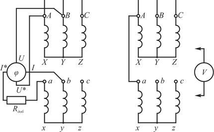 определение группы трансформатора