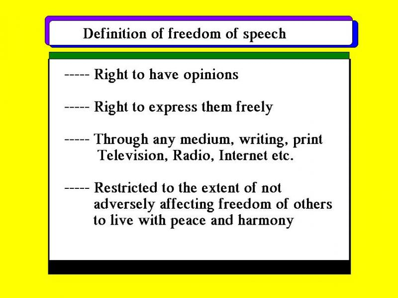 an introduction to the importance of the freedom of expression and the issue of censorship How important is our right to freedom of free speech: a very short introduction free speech free speech principle freedom of expression freedom of speech.