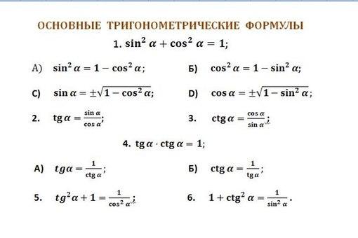 с решебник косинусы алгебры уравнения тригонометрия