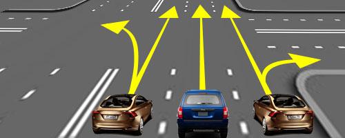 Также автовладелец должен убедиться, что полоса свободна, и он никому не создаст помех при передвижении.