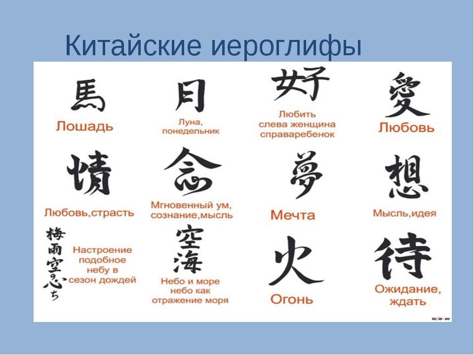 Всей души, картинки на китайском языке с переводом