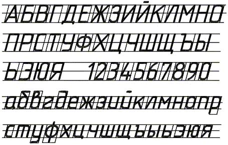 Шрифты по черчению госты.