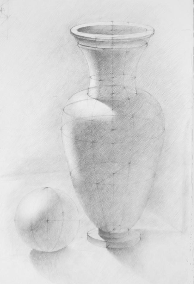 картинки ваза с тенями пошаговыми