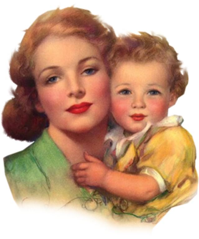 Картинках, женщина с ребенком открытка