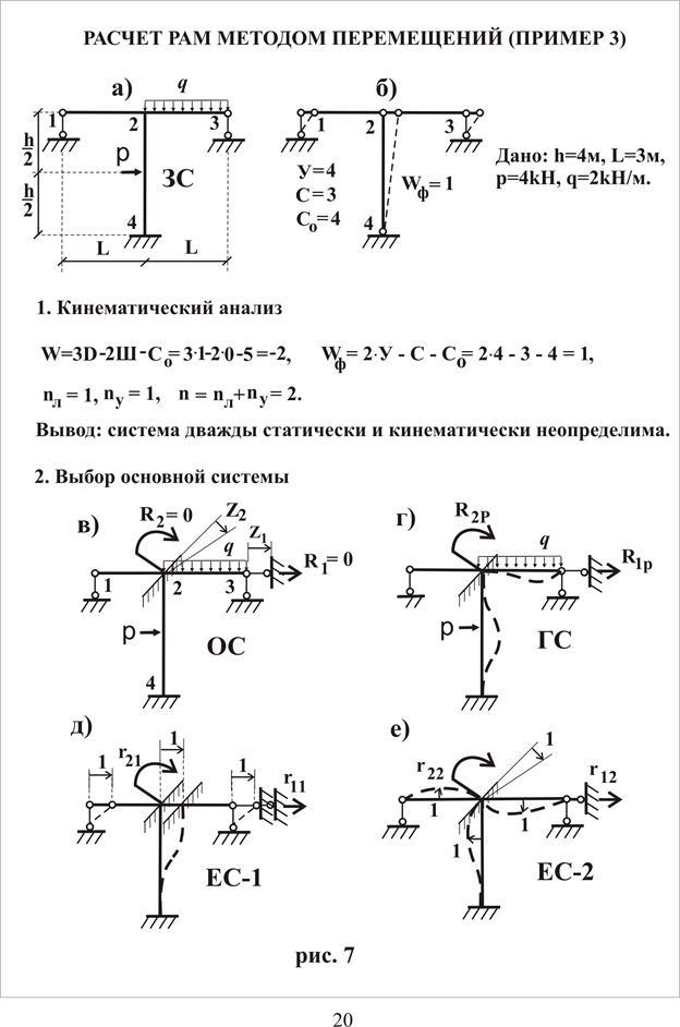 Метод перемещений решебник