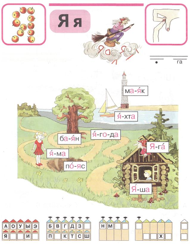 картинки на букву я для детей в начале слова