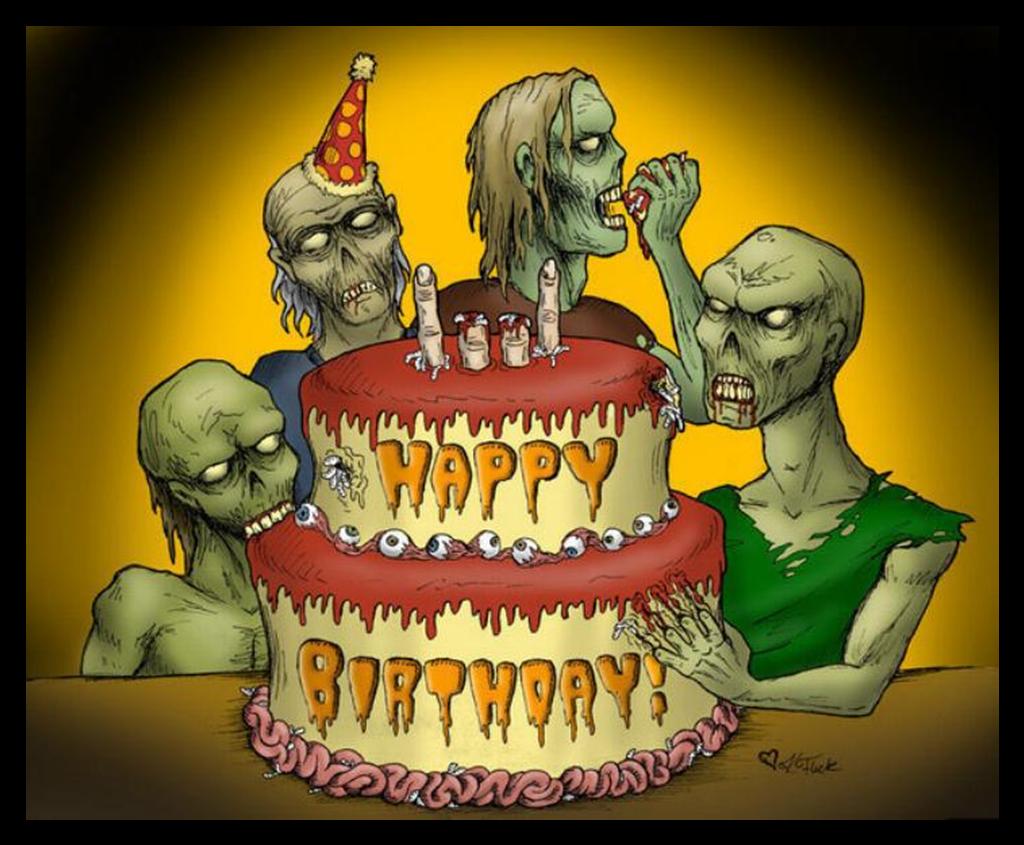 День, день рождения страшные открытки