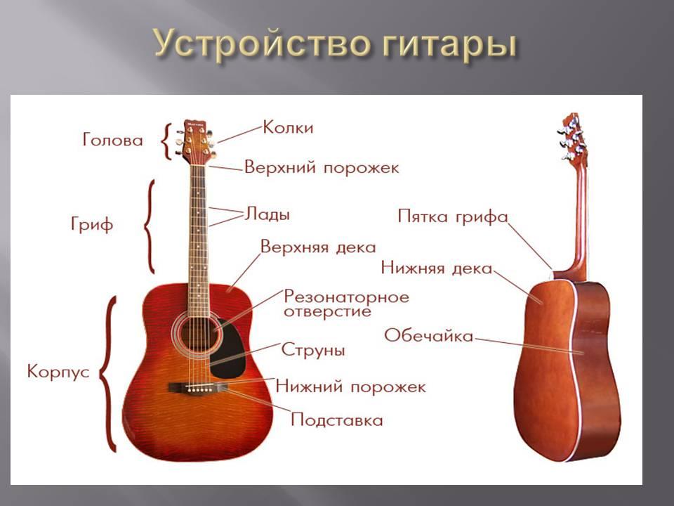 схема строения гитары обрабатывает эту информацию