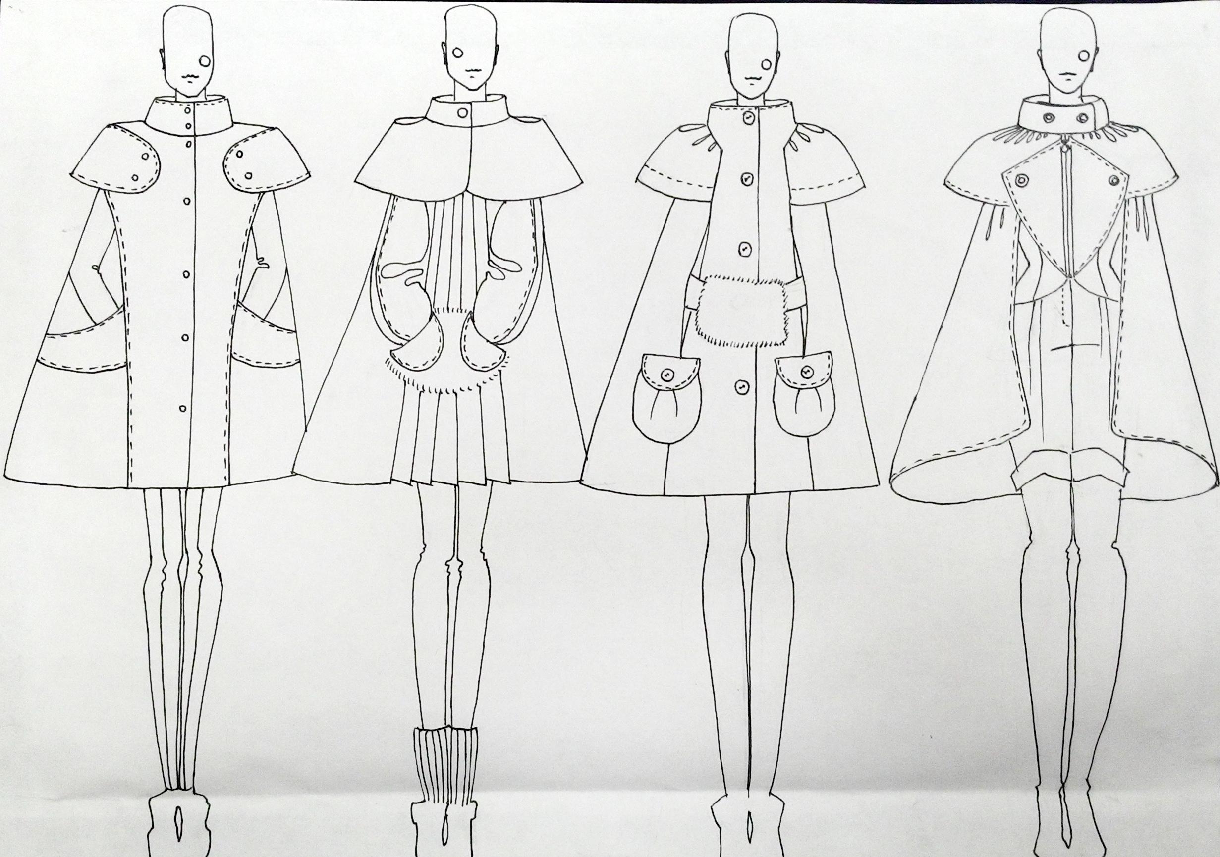 Технический рисунок модели одежды