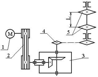 Цепная передача конвейера запчасти для транспортера т5 бу