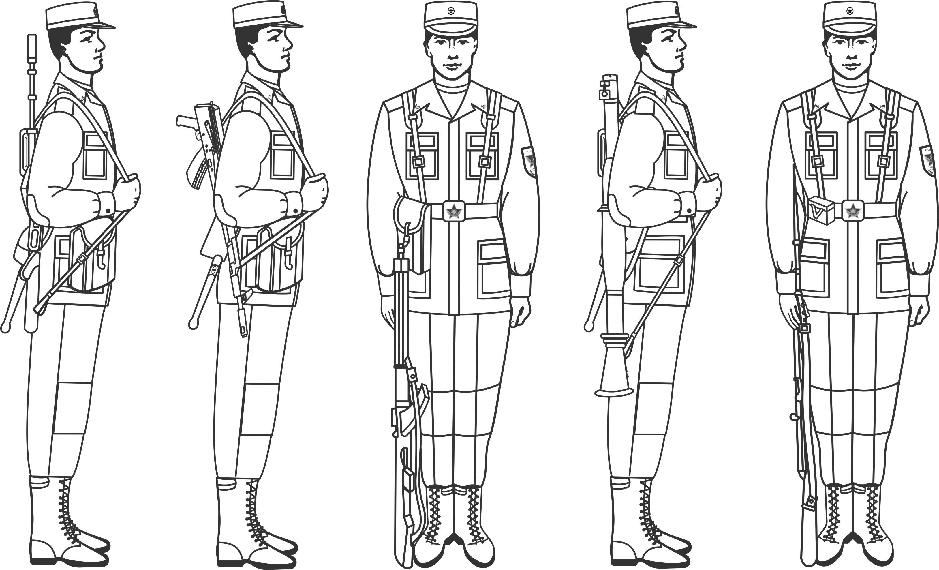 картинки карандашом солдаты в строю шампуре такое необычное