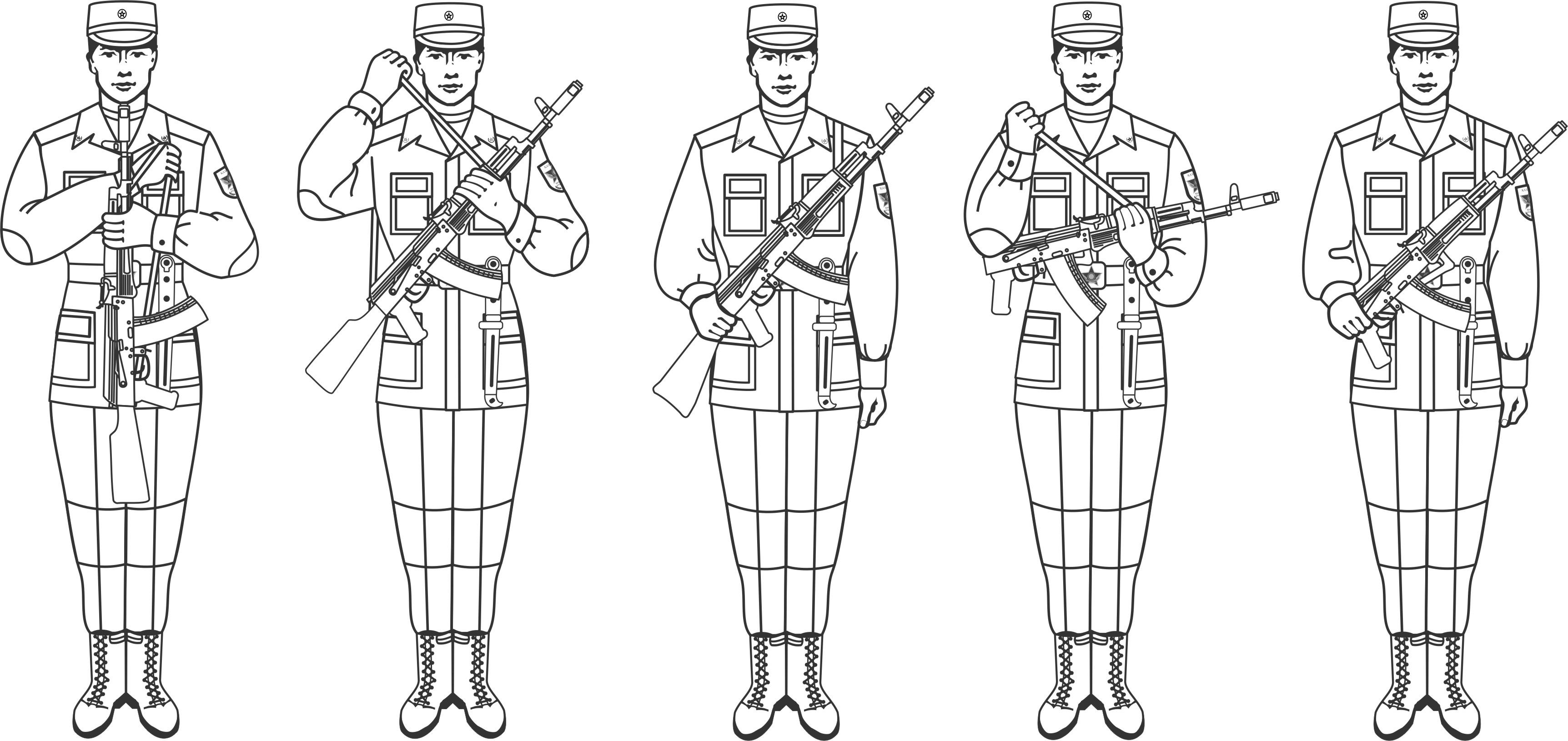 эти картинки карандашом солдаты в строю тренажере смита для