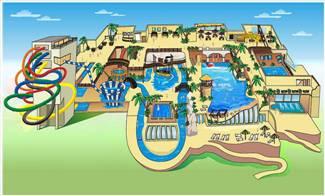 Рисунок аквапарка ривьера в казани карандашом