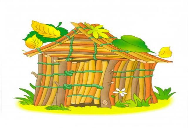 Картинки домик соломенный из сказки три поросенка