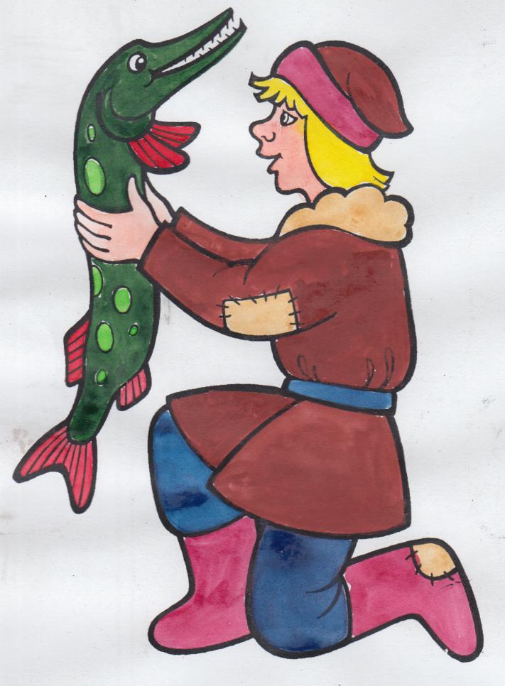 Картинки сказки емеля и щука
