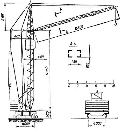 сколько схема башенного крана кб-100 ритуал