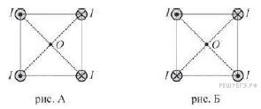 поле образовано двумя квадратами расположенными так как показано на чертеже